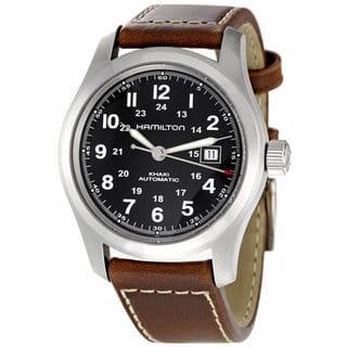 Hamilton Men's H70455533 Khaki Field Automatic Silver Watch|https://ak1.ostkcdn.com/images/products/9521731/P16699588.jpg?impolicy=medium