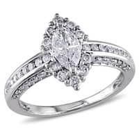 Miadora Signature Collection 14k White Gold 1 1/4ct TDW Marquise Diamond Engagement Ring