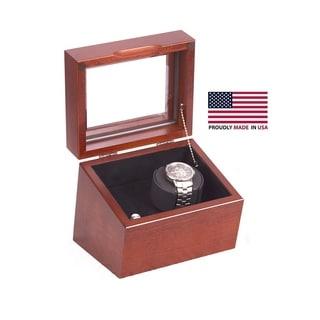American Chest 'The Brigadier' American Cherry Hardwood Single Watch Winder