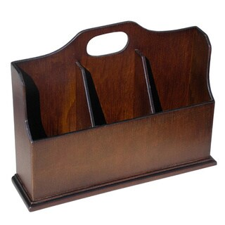 D-Art Dark Brown Wood Envelope Box, Handmade in Indonesia