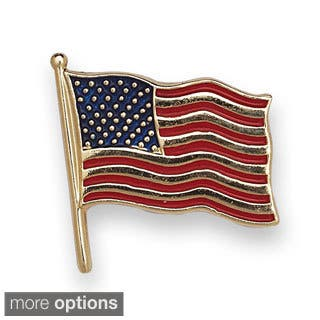 14k Yellow or White Gold Enamel American Flag Lapel Pin|https://ak1.ostkcdn.com/images/products/9521784/P16699624.jpg?impolicy=medium