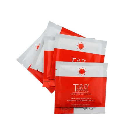 Tan Towel Full Body Plus 5-piece Tanning Towelette Set