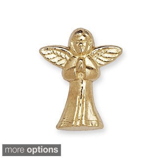 14k Yellow or White Gold Praying Angel Lapel Pin