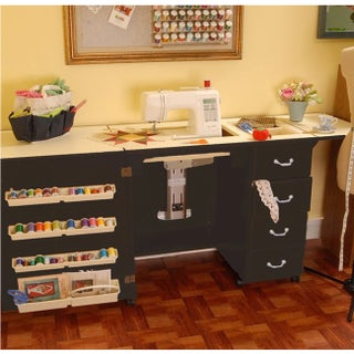 Arrow 'Norma Jean' Crafts & Sewing Machine Table Furniture Storage Cabinet (Option: Black)