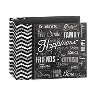 """Pioneer 3-Ring Printed """"Happiness"""" Chalkboard Design Scrapbook Binder for 12"""" by 12"""" Pages with Bonus Refill Pack"""