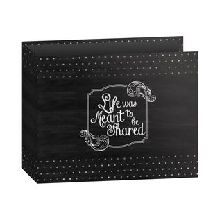 "Pioneer 3-Ring Printed ""Shared"" Chalkboard Design Scrapbook Binder for 12"" by 12"" Pages with Bonus Refill Pack"