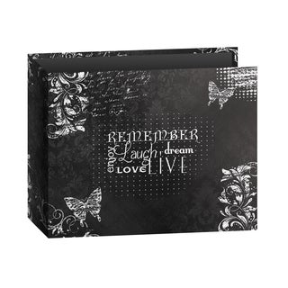 "Pioneer 3-Ring Printed ""Remember"" Chalkboard Design Scrapbook Binder for 12"" by 12"" Pages with Bonus Refill Pack"