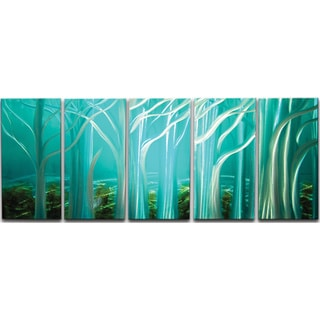Forest of Light' 5-piece Metal Wall Art