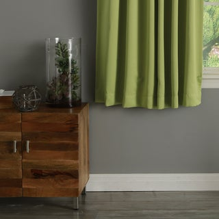Aurora Home Solid Insulated Thermal Blackout Curtain Panel Pair