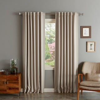Insulated/ Thermal Solid Weave Blackout Curtain Panel Pair