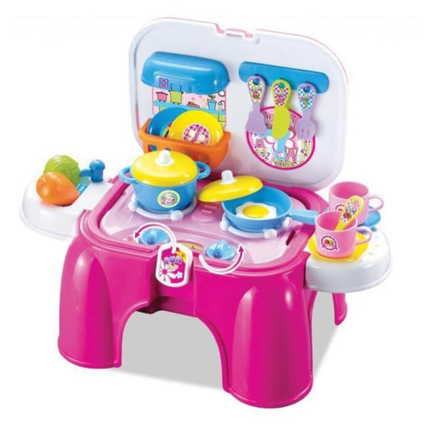 Berry Toys My First Portable Play And Carry Kitchen And Bench Play Set ...