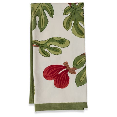 Couleur Nature Fig Tea Towels 20 x 30 inches(Set of 3)