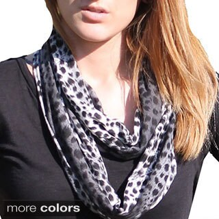Le Nom Cheetah Infinity Scarf