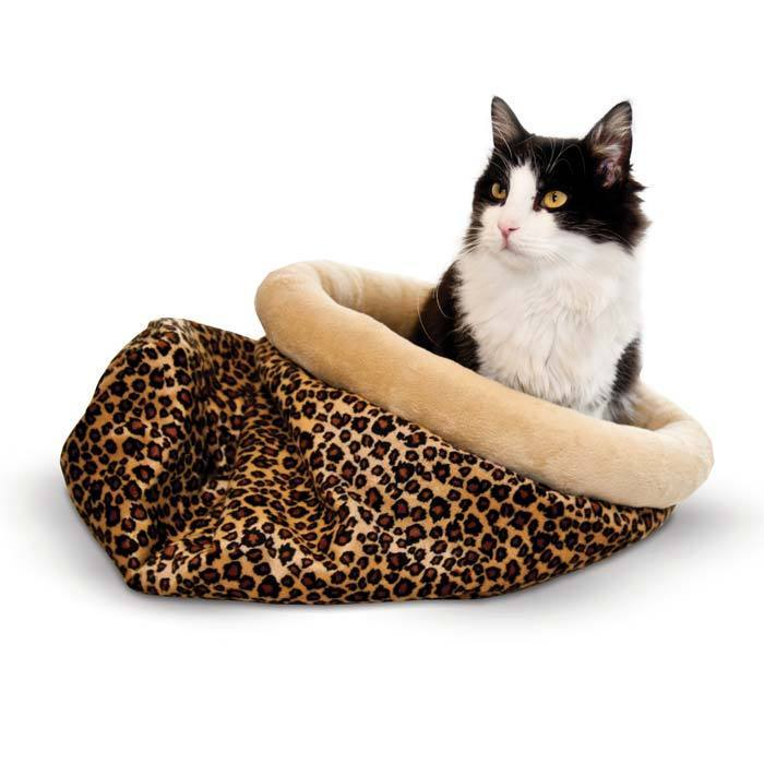 K&H Manufacturing Self Warming Kitty Sack (Leopard)