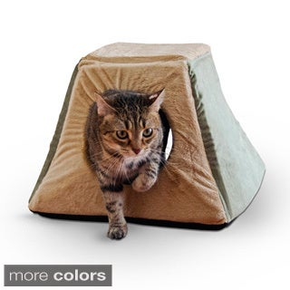 K&H 3-in-1 Thermo Kitty Cabin Heated Pet Bed
