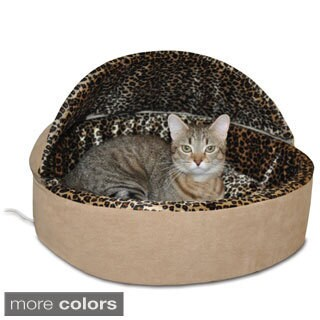 K&H Pet Products Thermo Kitty Deluxe Hooded Bed