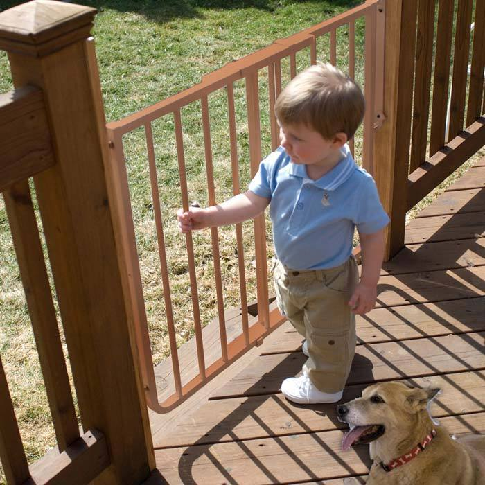 "Cardinal (Red) Stairway Special Outdoor Gate Brown 27"" - ..."