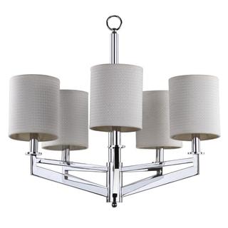 Safavieh Lighting 26-Inch Adjustable 5-Light Axis Chrome Chandelier
