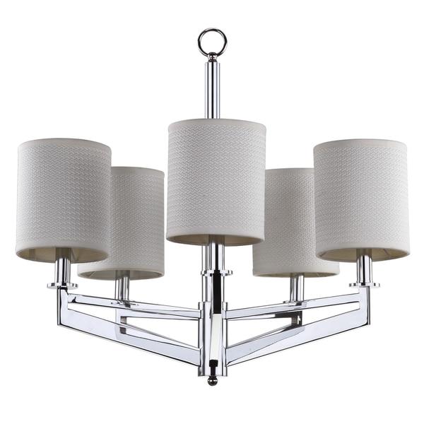 "Safavieh Lighting 26-inch Adjustable 5-Light Axis Chrome Chandelier - 26.125"" x 26.125"" x 23 - 95"""