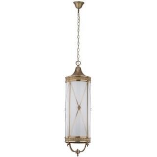 Safavieh Lighting 10.6-Inch Adjustable 6-Light Darby Large Brass Pendant Lamp