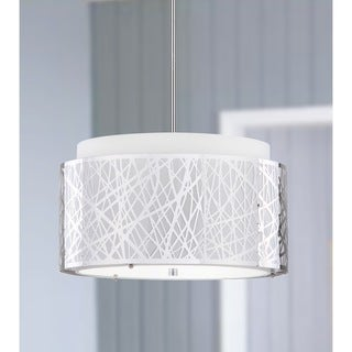 Safavieh Lighting 20-Inch Adjustable 3-Light Double Tree Chrome Pendant Lamp