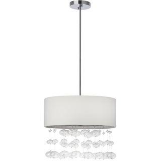 Safavieh Lighting 18-inch Adjustable 3-Light Debutante Chrome Pendant Lamp