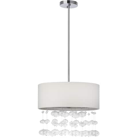 "Safavieh Lighting Debutante Adjustable 3-light Chrome Pendant - 18.125""x18.125""x15.25 - 51.25 """