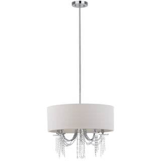 Safavieh Lighting 22-Inch Adjustable 5-Light Cotillion Chrome Pendant Lamp