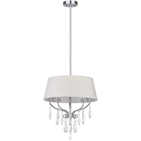 "Safavieh Lighting Waltz Adjustable 3-light Chrome Pendant - 17""x17""x17868"""