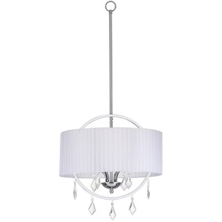 Safavieh Lighting 18-inch Adjustable 4-Light Concerta Chrome Pendant Lamp