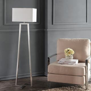 Safavieh Lighting 60-inch Lyell Nickel Floor Lamp|https://ak1.ostkcdn.com/images/products/9525154/P16702704.jpg?impolicy=medium
