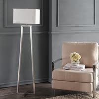 Safavieh Lighting Lyell Nickel White Metal Cotton 60-inch Floor Lamp