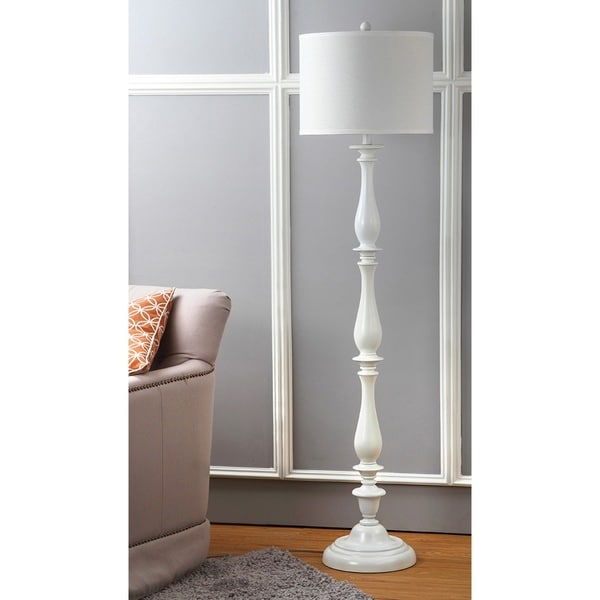 Shop Safavieh Lighting 62 Inch Bessie Candlestick White Floor Lamp On Sale Free Shipping