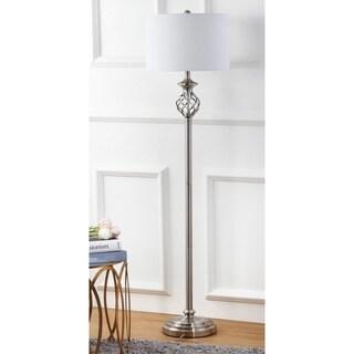 Safavieh Lighting 59.75-inch Sophia Nickel Floor Lamp
