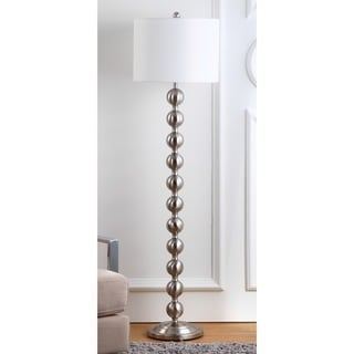 Safavieh Lighting 58.5-inch Reflections Stacked Ball Nickel Floor Lamp