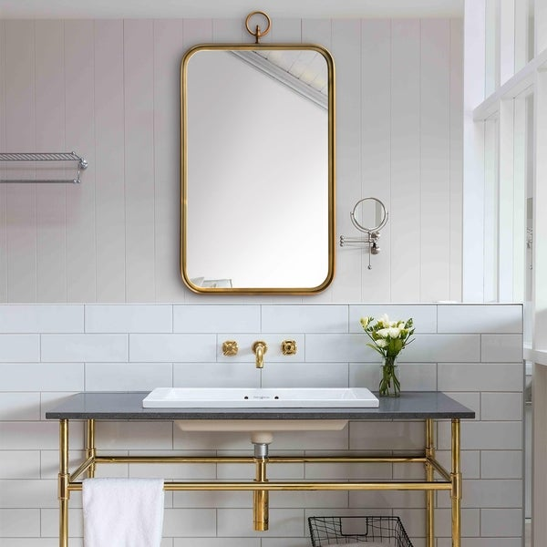 Carson Carrington Ulfserud Brass Mirror