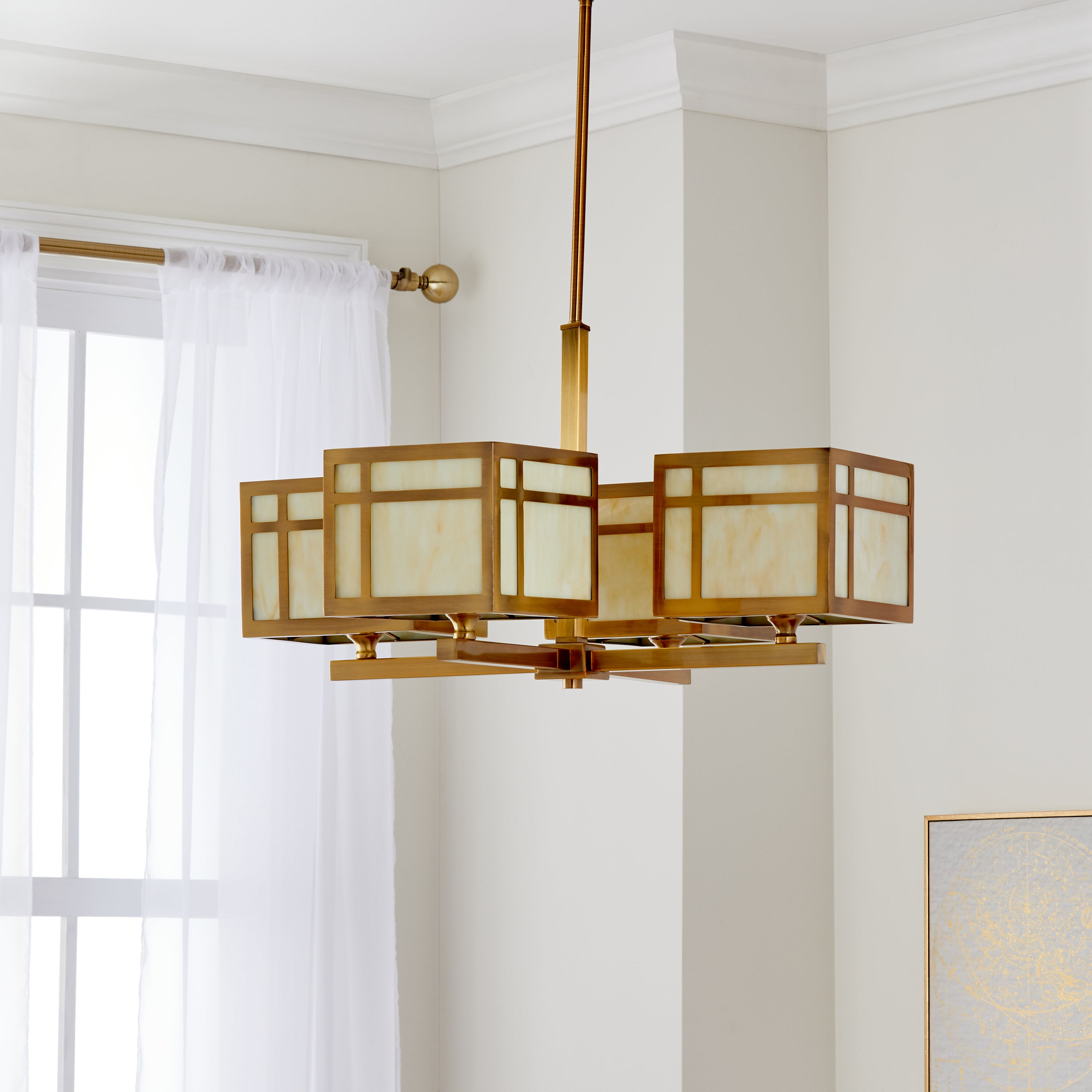 Safavieh Lighting 25 Inch Adjule 4 Light Craftsman Gold Chandelier X 19 125 55