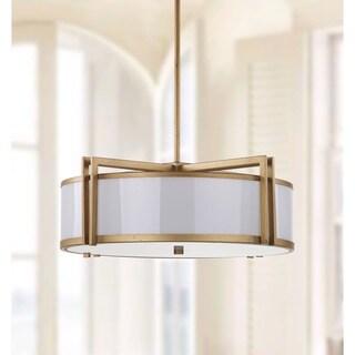 Safavieh Lighting 21-Inch Adjustable 5-Light Orb Drum Gold Pendant Lamp