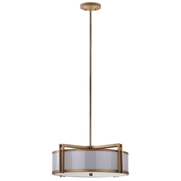 Safavieh Lighting 21 Inch Adjustable 5 Light Orb Drum Gold Pendant Lamp 16702713 Overstock