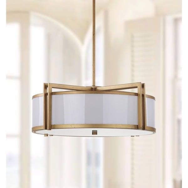 Safavieh Lighting 21 Inch Adjustable 5 Light Orb Drum Gold Pendant Lamp Free Shipping Today