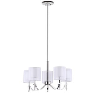 Safavieh Lighting 26.4-inch Adjustable 5-Light Mika Chrome Chandelier