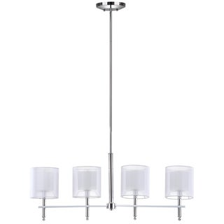 Safavieh Lighting 33.5-Inch Adjustable 4-Light Aura Island Chrome Pendant Lamp