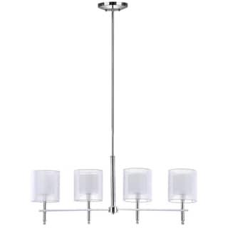 Safavieh Lighting 33.5-Inch Adjustable 4-Light Aura Island Chrome Pendant Lamp