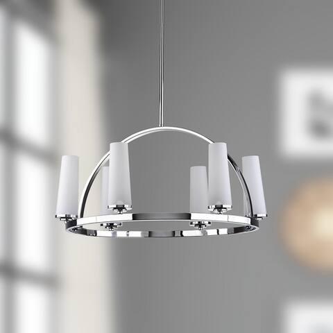 "Safavieh Lighting Lunar Adjustable 6-light Chrome Pendant - 24""x24""x39 - 111"" - 24""x24""x39 - 111"""