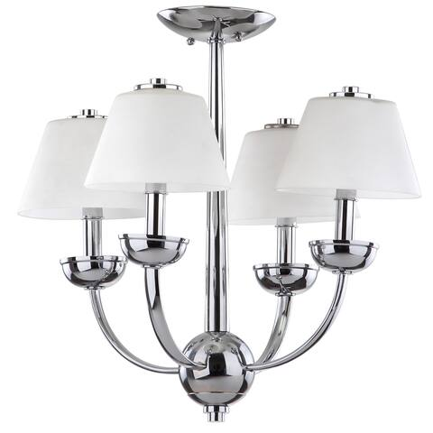 "Safavieh Lighting Yardley Adjustable 4-light Chrome Chandelier - 18.875""x18.875""x18.875"""