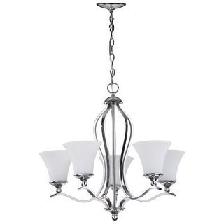 Safavieh Lighting 96-inch Adjustable 5-light Celeste Chrome Chandelier
