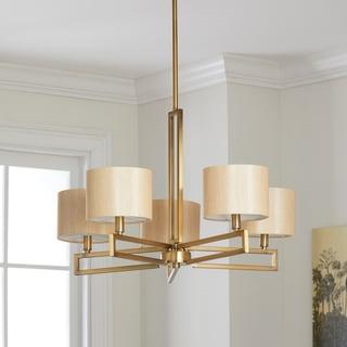 Safavieh Lighting 25-Inch Adjustable 5-Light Catena Gold Chandelier