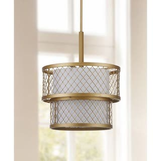 Safavieh Lighting 17-Inch Adjustable 6-Light Evie Mesh Gold Pendant Lamp|https://ak1.ostkcdn.com/images/products/9525185/P16702721.jpg?impolicy=medium