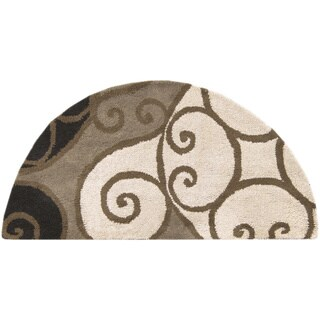 Hand-tufted Ying Yang Wool Area Rug - 2' x 4'