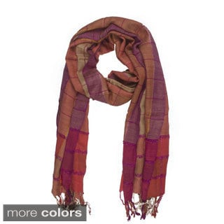 In-Sattva Colors Multicolored Stripe and Square Scarf (India)